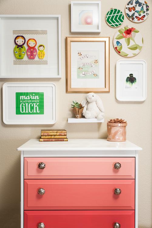 Marin 39 s big girl room project nursery - Muebles de colores pintados ...