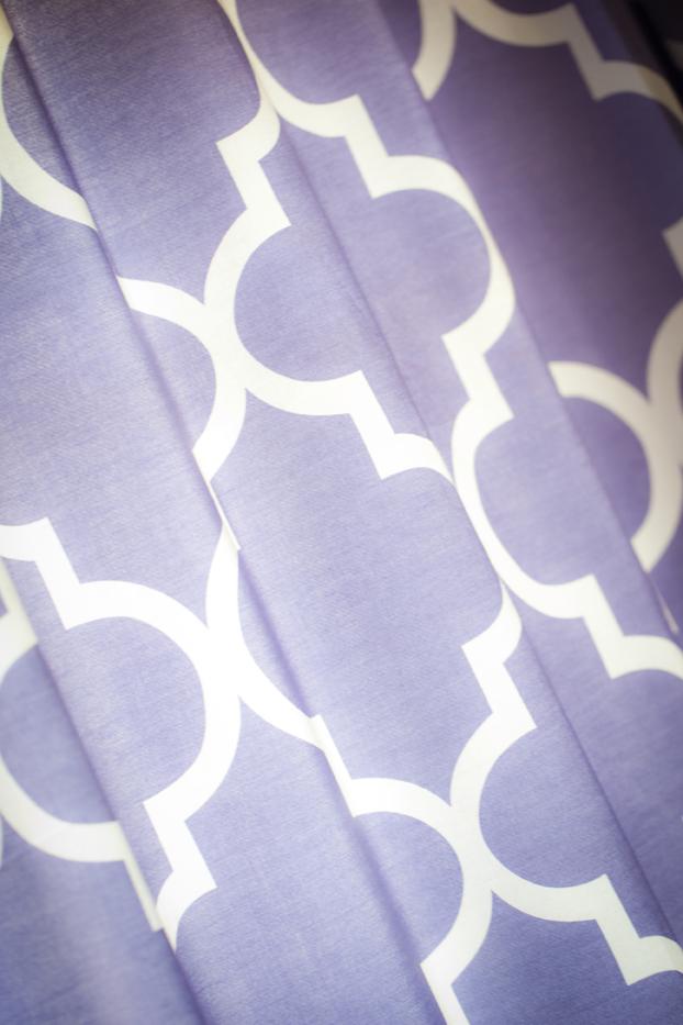 ... Purple Trellis Curtains