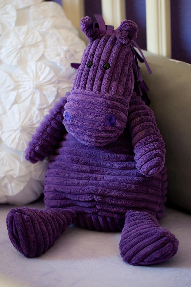 Purple Rhino Stuffed Animal
