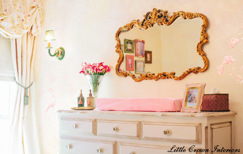 pink girls nursery design ideas
