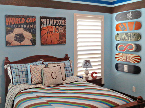 Sports themed children 39 s rooms and parties - Comely pictures of basketball themed bedroom decoration ideas ...