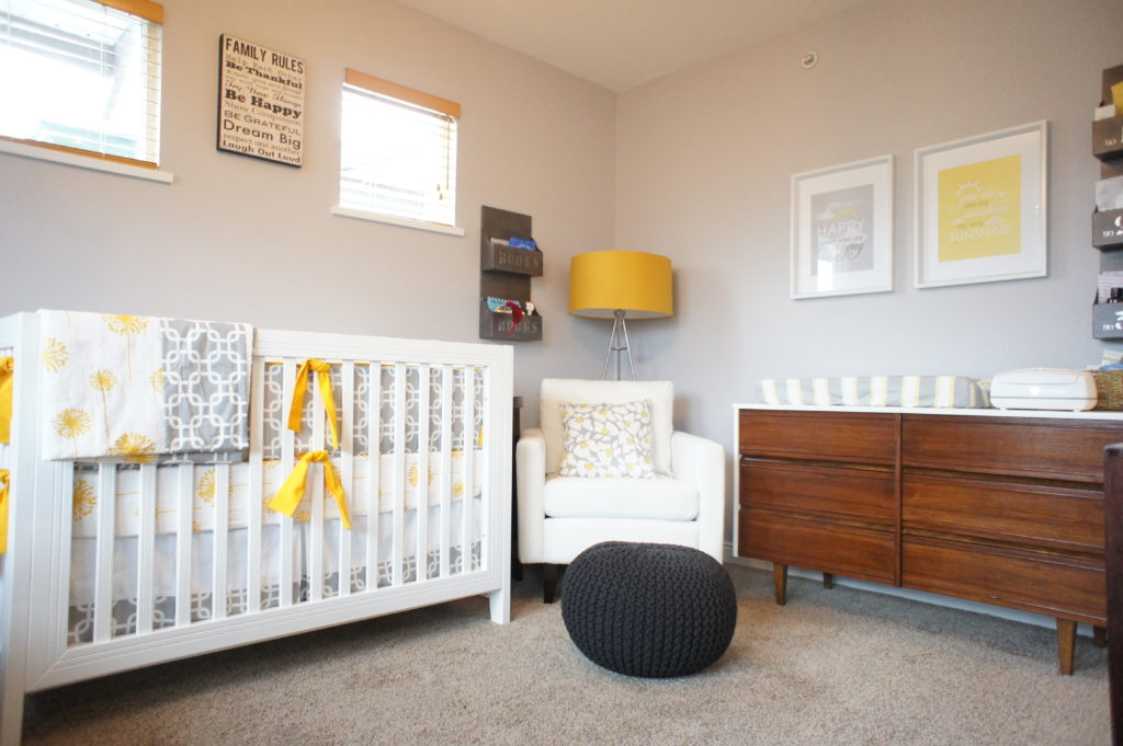 Gender Neutral Nursery Grey White amp Mustard Project