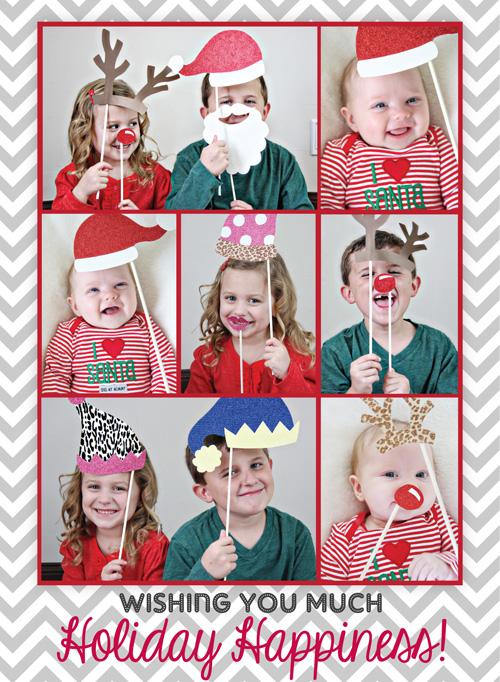 Diy Santa S Photobooth Christmas Cards