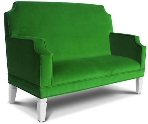 green child size sofa