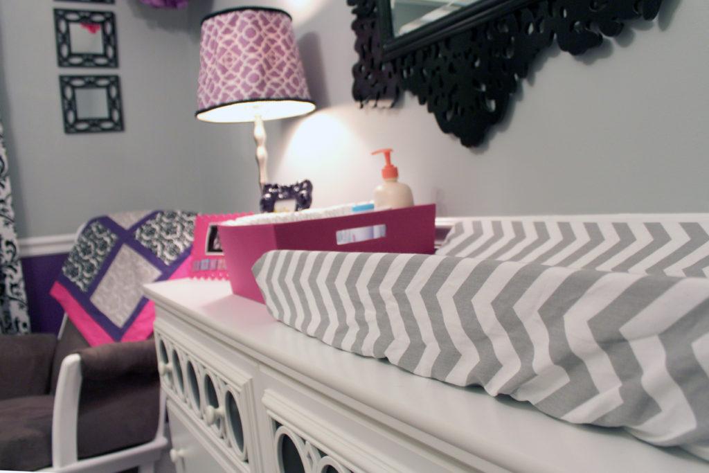 Purple Gray And Pretty Prints Project Nursery