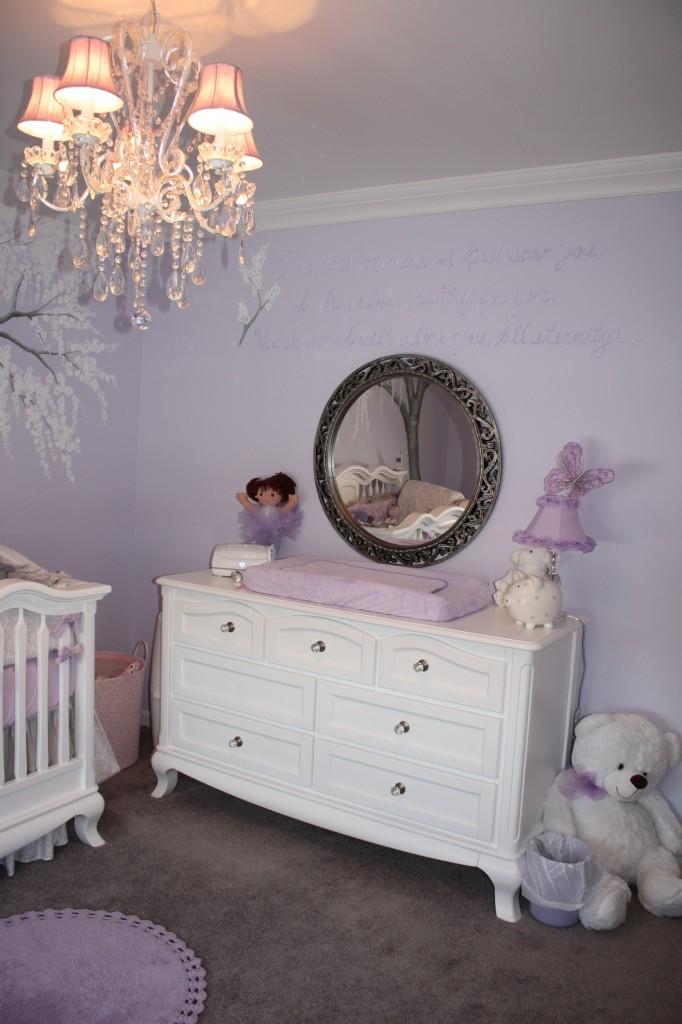 Sparkly Cherry Blossom Nursery Project Nursery