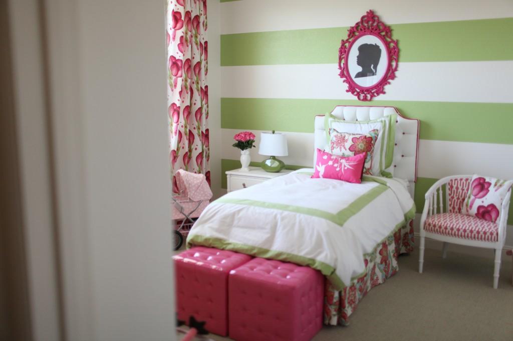 73 Best Children S Bedroom Ideas Images On Pinterest: Preppy, Modern Pink & Green Girl's Room