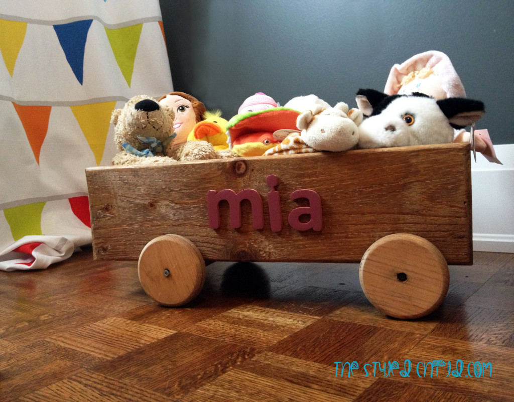 Girls Striped Eclectic Nursery Wagon