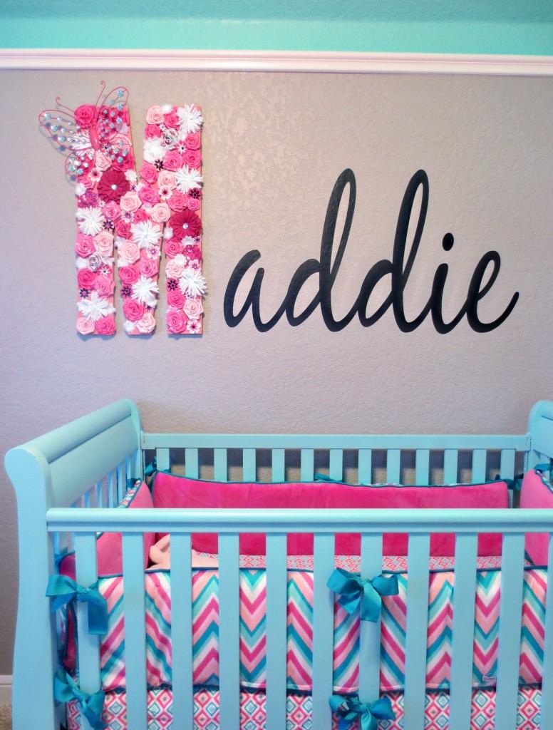 Maddie S Pink Aqua And Gray Chevron Nursery Project