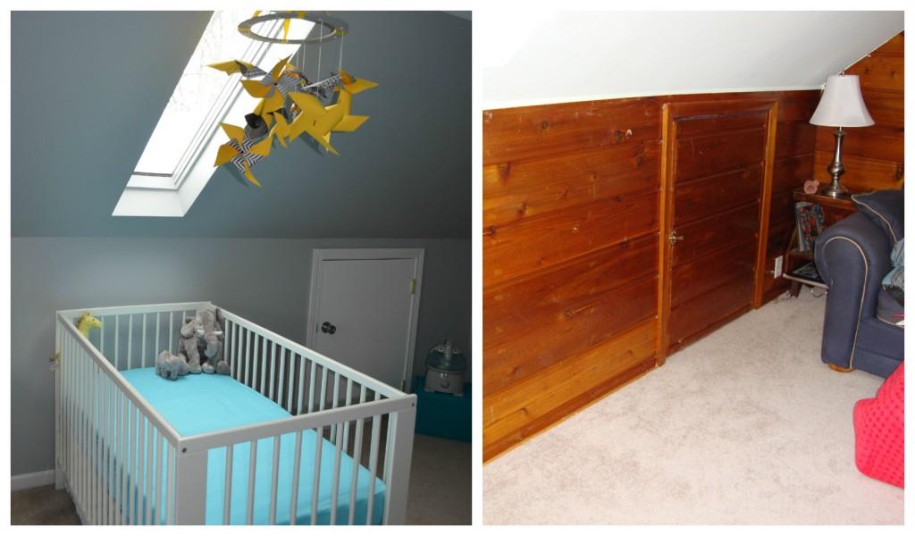 21/ ... & Baby Boyu0027s Yellow Grey and Teal Attic Nursery - Project Nursery