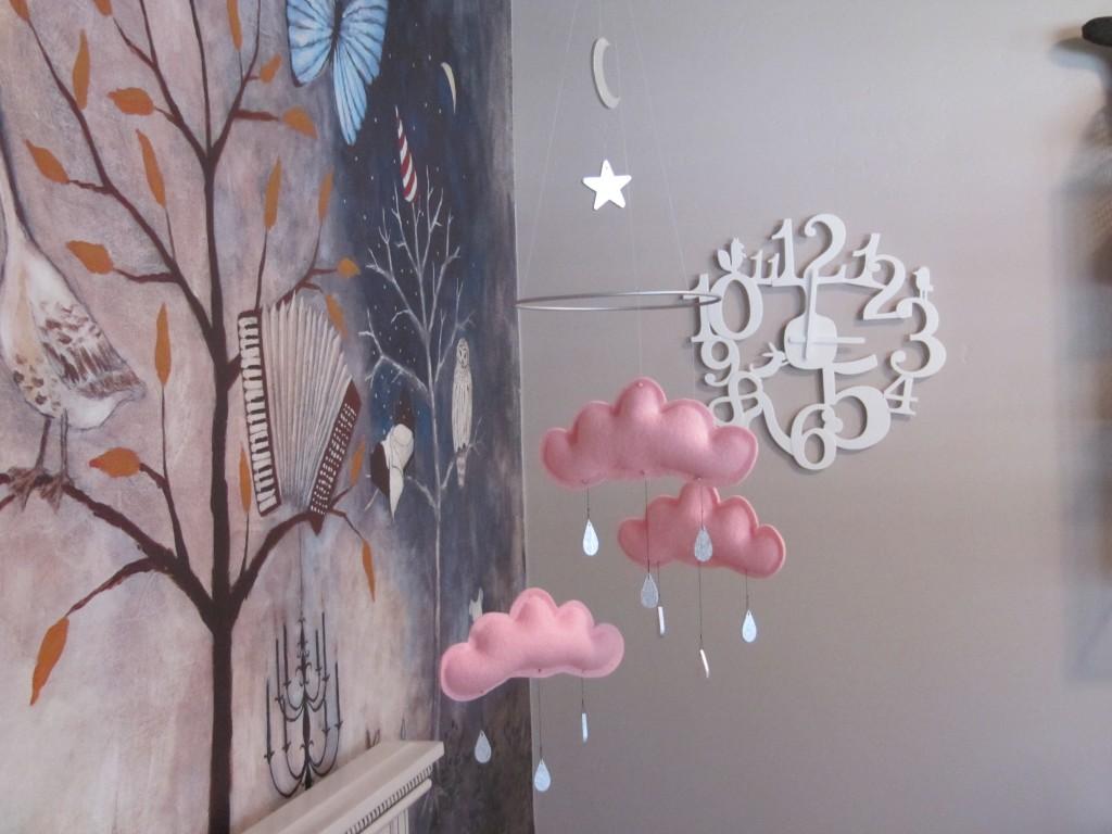 Rain Cloud Mobile for Nursery