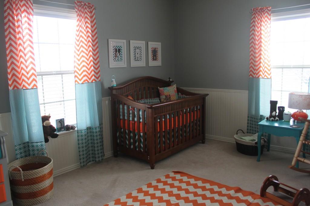 Orange And Teal Nursery Project Nursery
