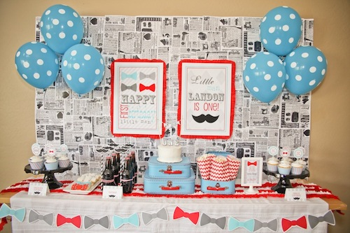 Party Reveal Little Man First Birthday