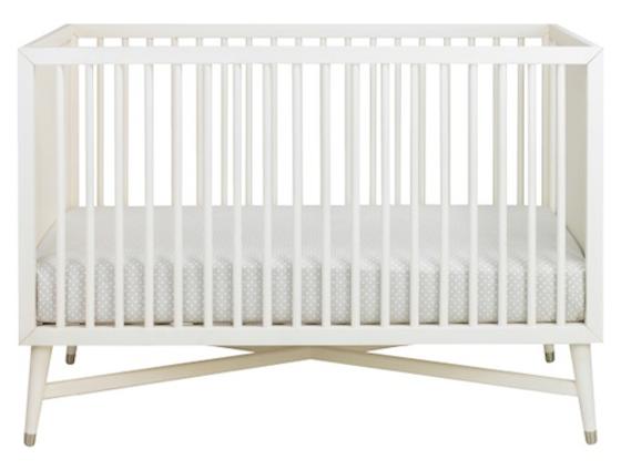 mid centur modern crib