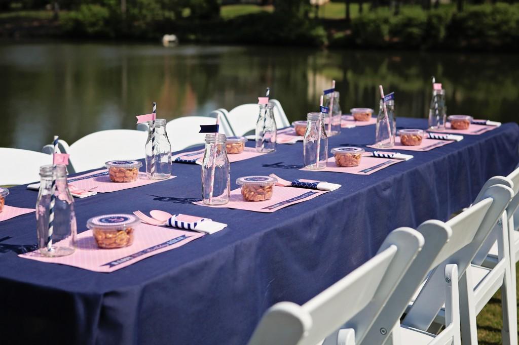 Preppy Pink Amp Navy Nautical First Birthday Project Nursery