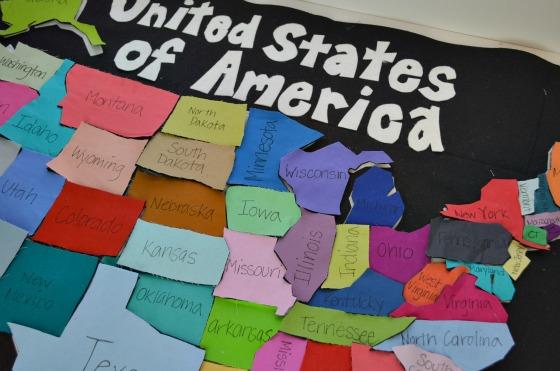 United States Map Playmat DIY
