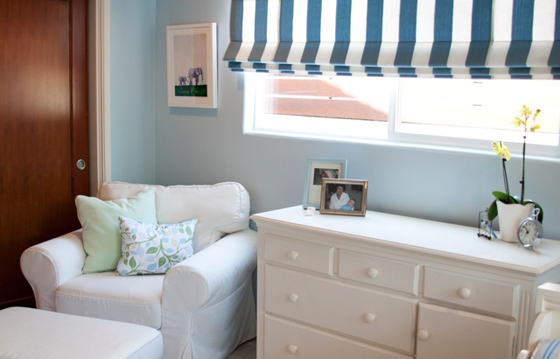Boy's Blue and Green Toddler Room