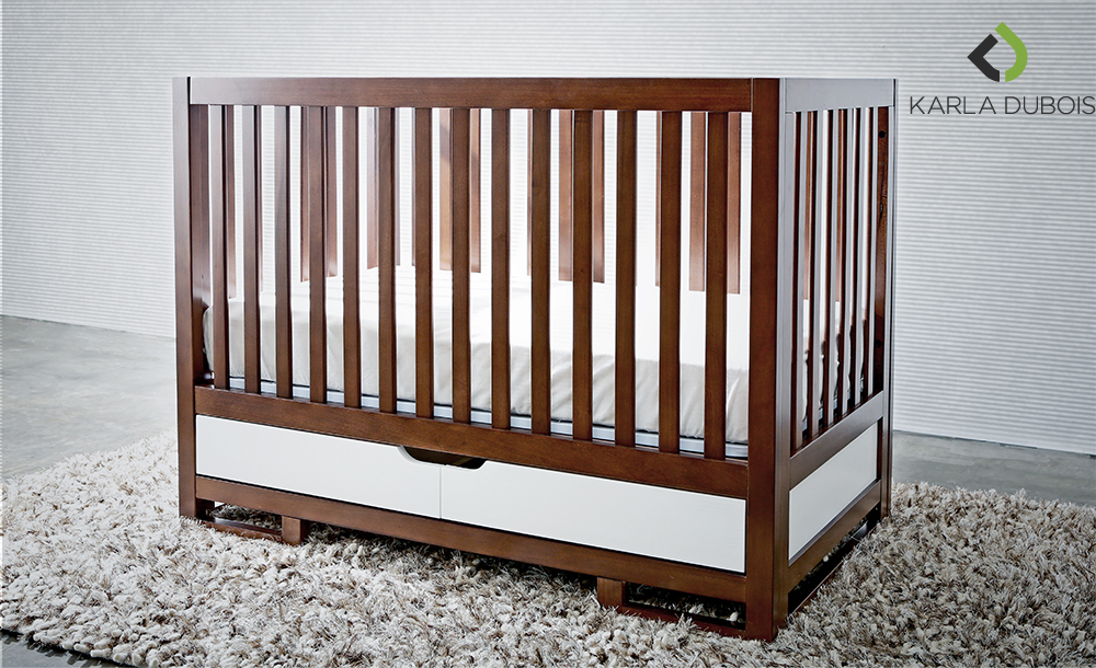 Two-Toned Crib with Storage Drawer