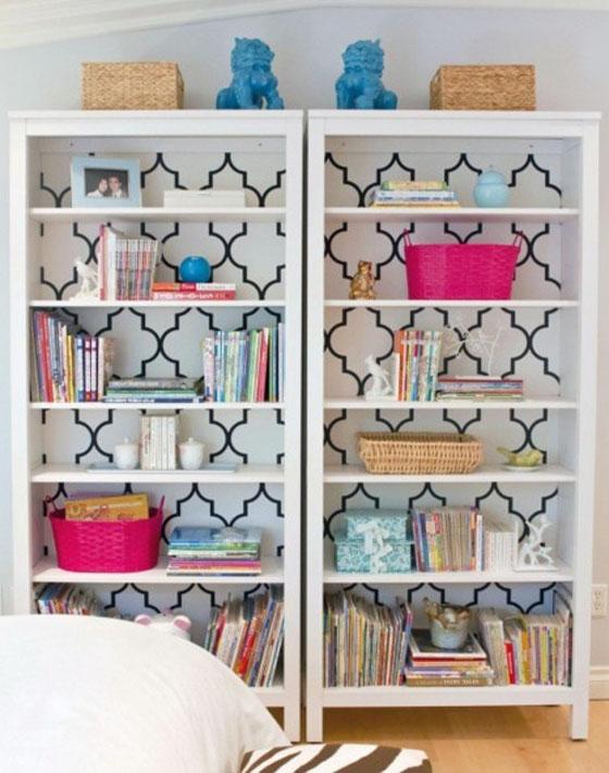 Quatrefoil Accented Bookcase