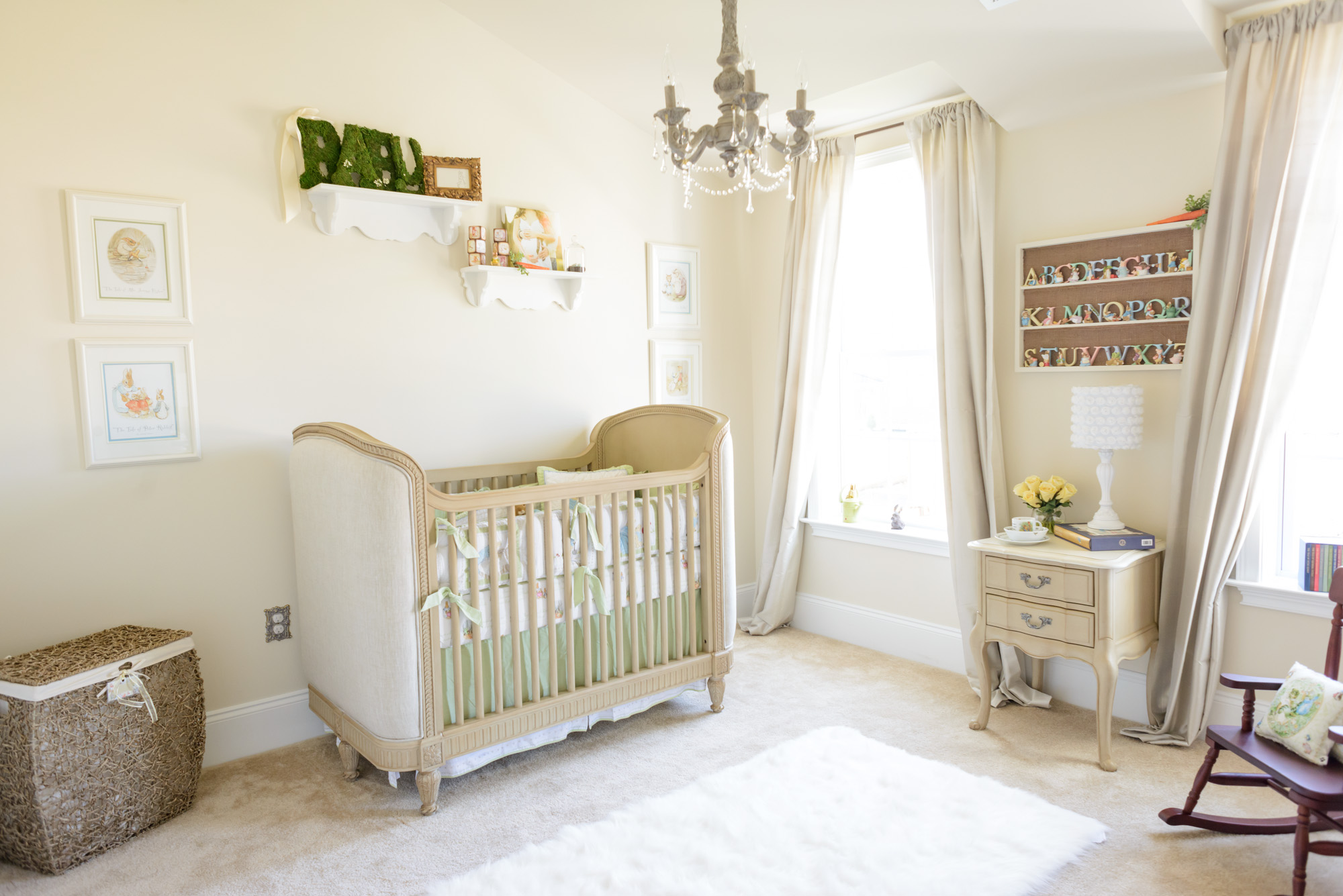 Elegant beatrix potter nursery for baby sophia project for Baby s bedroom ideas