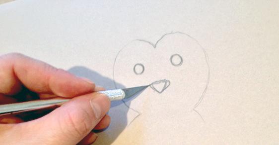 Penguin Nursery Stencil
