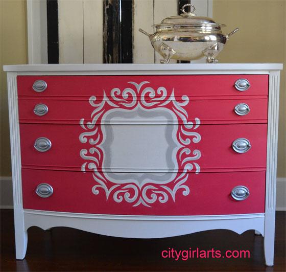 Quatrefoil Painted Dresser
