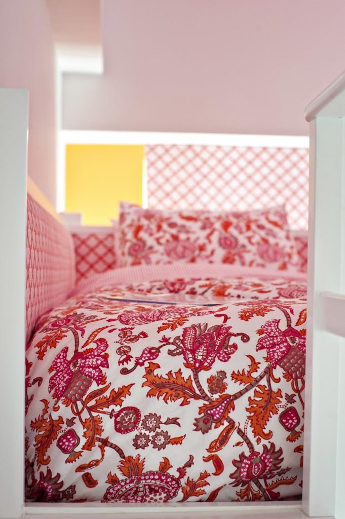 Pink And Orange Lofted Girls Room Project Nursery