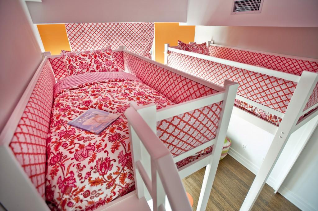 Pink and Orange Lofted Girls Room - Project Nursery