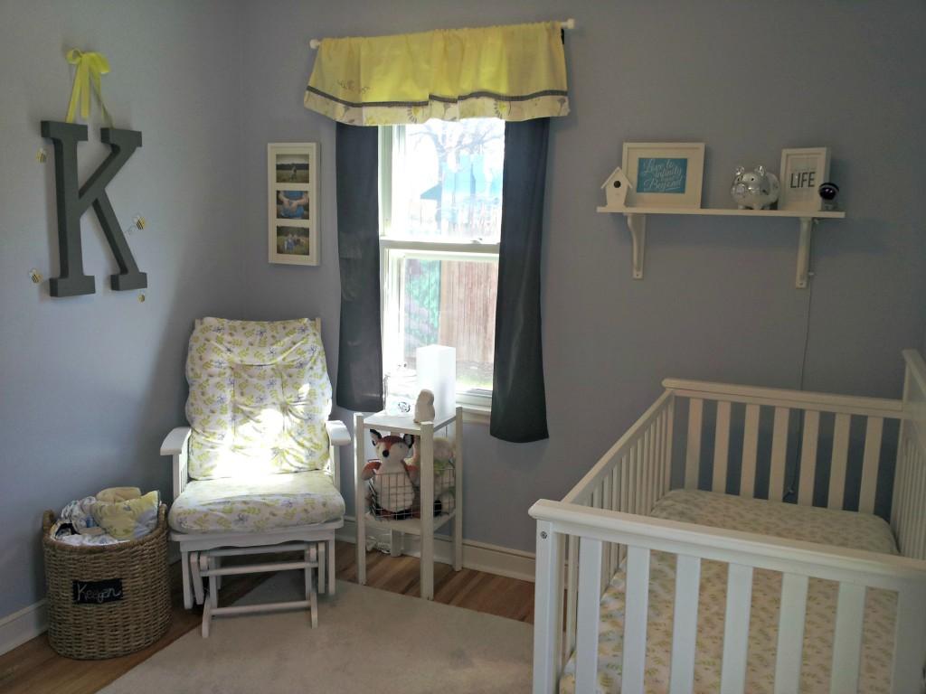 Keegan S Blue Bumble Bee Nursery Project Nursery