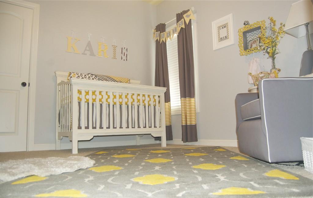 Baby Girl Gray And Yellow Nursery Project Nursery