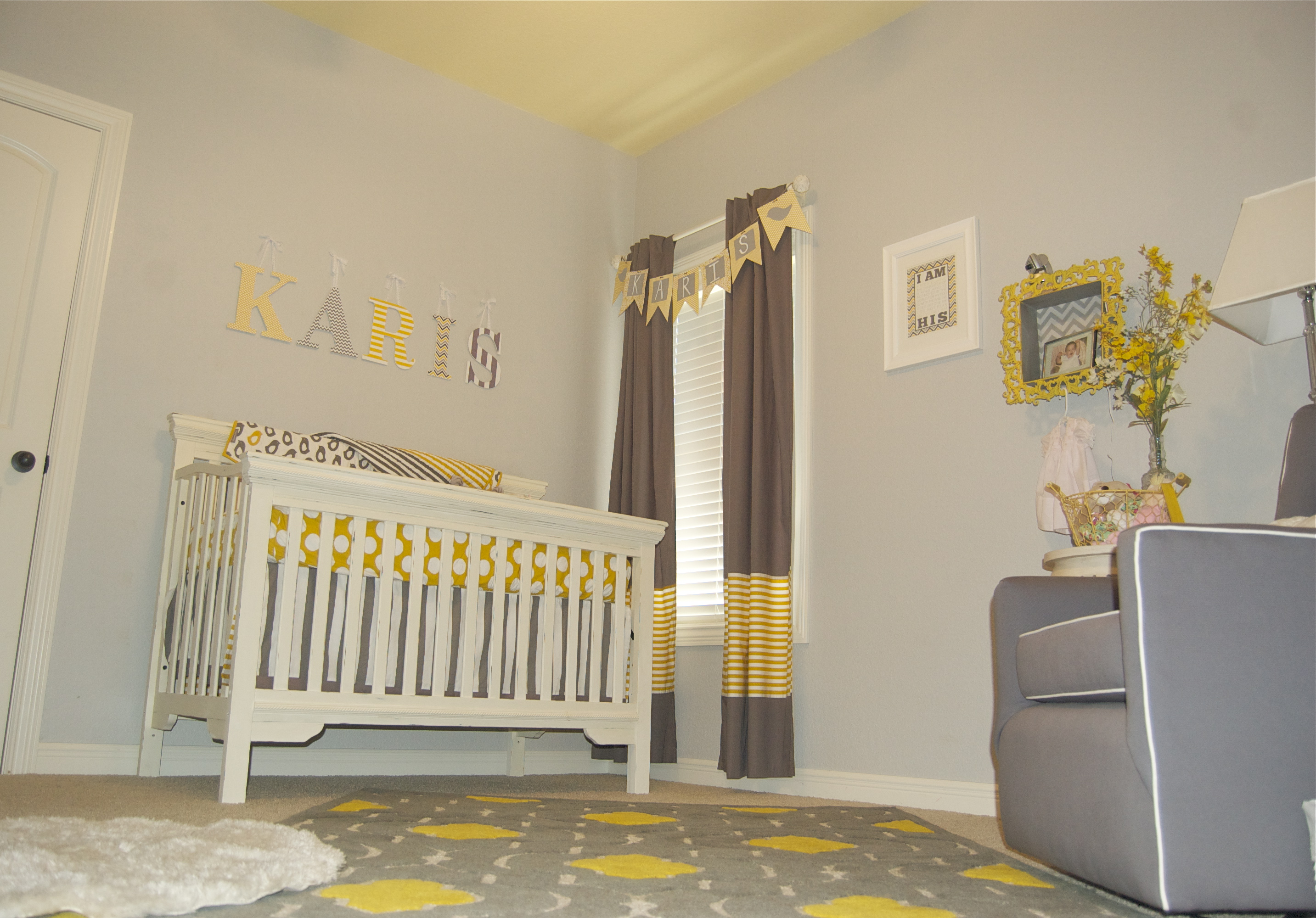 Baby Girl Gray And Yellow Nursery Project Nursery
