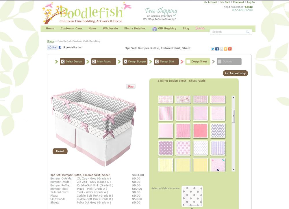 Design Custom Crib Bedding