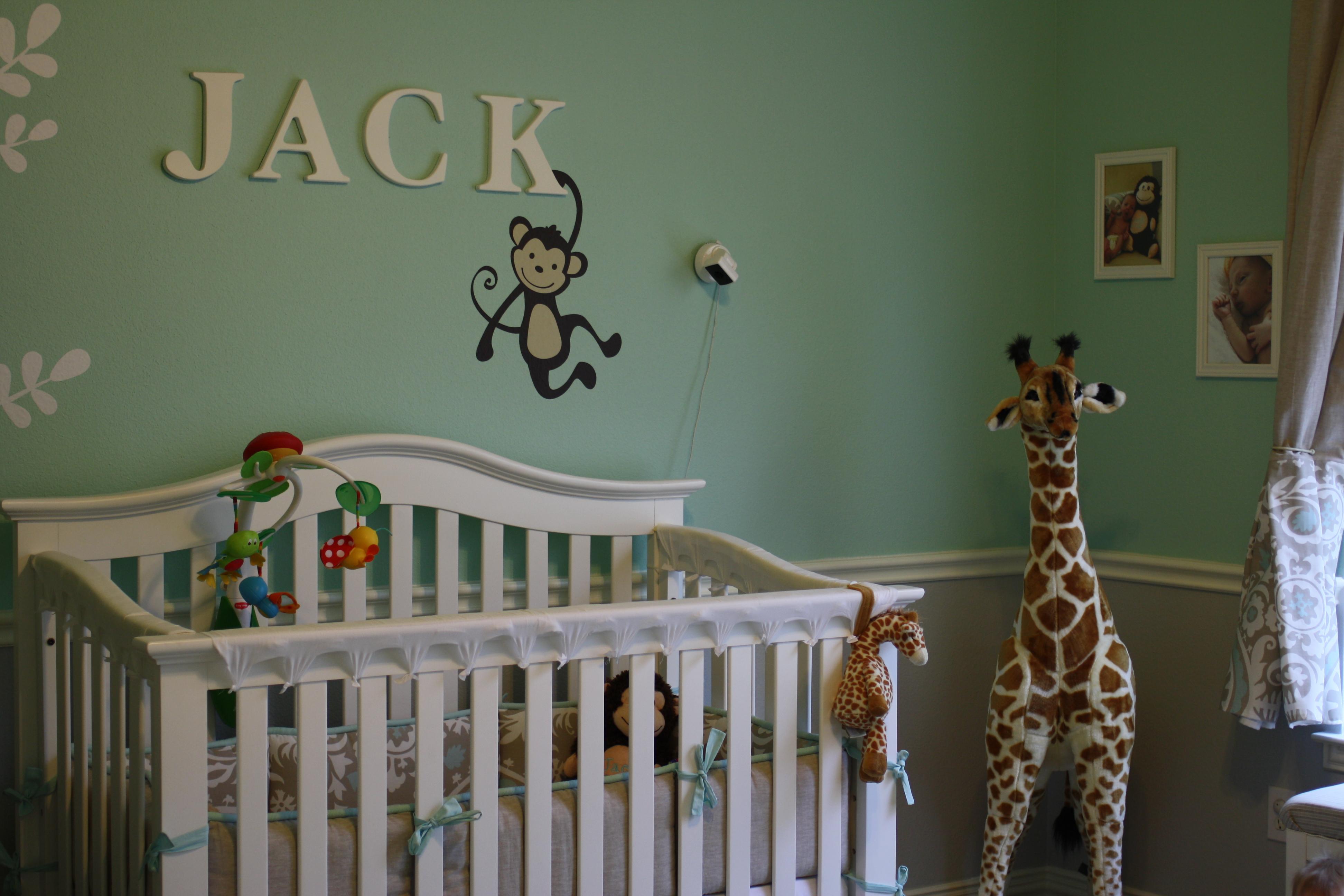 Diy Neutral Aqua And Grey Nursery Project Nursery