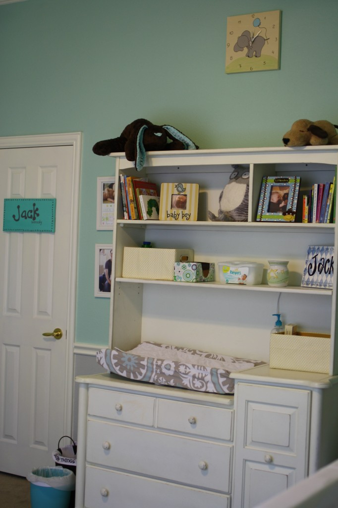 Neutral Aqua and Grey Nursery 5