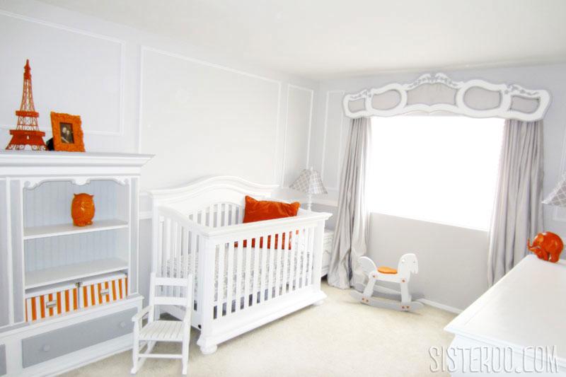Orange and Gray Modern Nursery