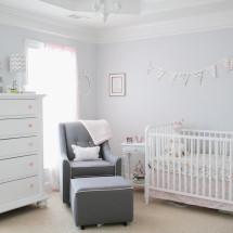 Light Pink and Gray Baby Girl Nursery