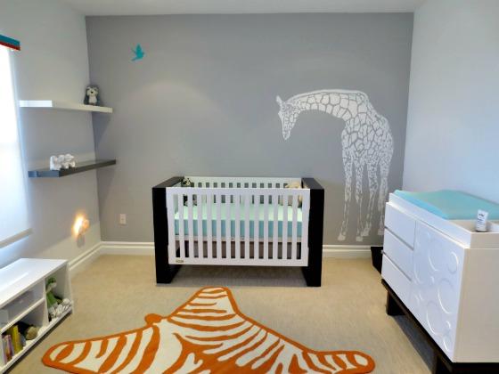 Giraffe Wall Decal in Nursery