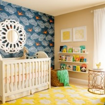 Modern Vintage Blue and Yellow Nursery