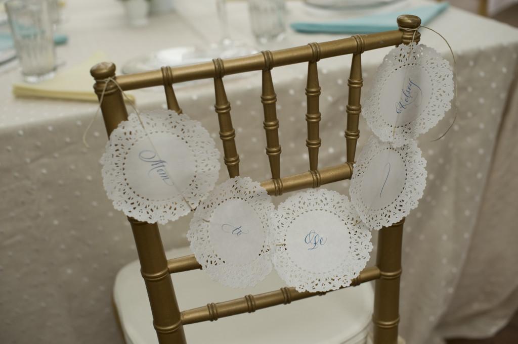 Gender Neutral Baby Shower Chair Backer