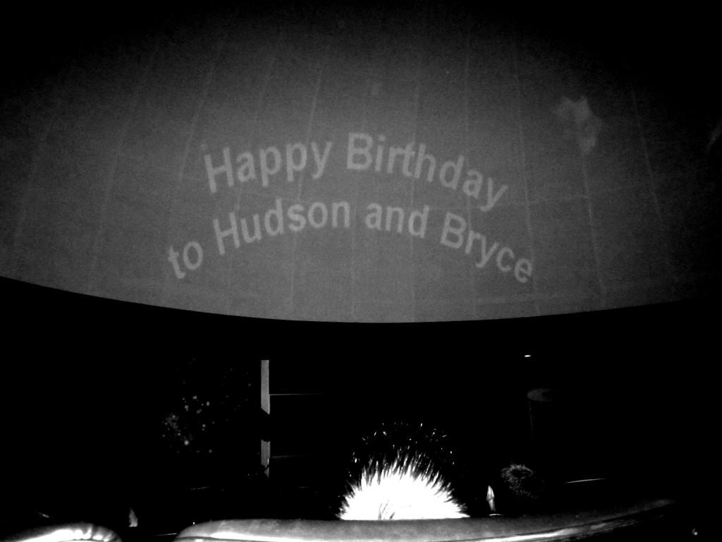 Blastoff Brothers Shared Birthday Party Birthday Sign