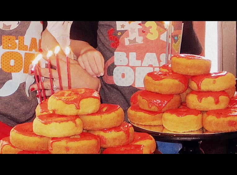 Blastoff Brothers Shared Birthday Party Donut Cake