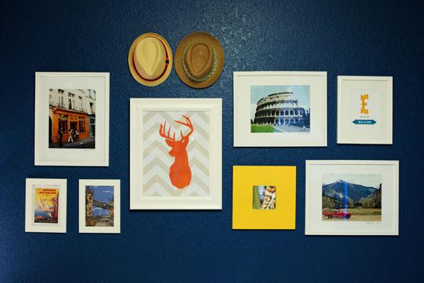 Vintage Blue Nursery Gallery Wall