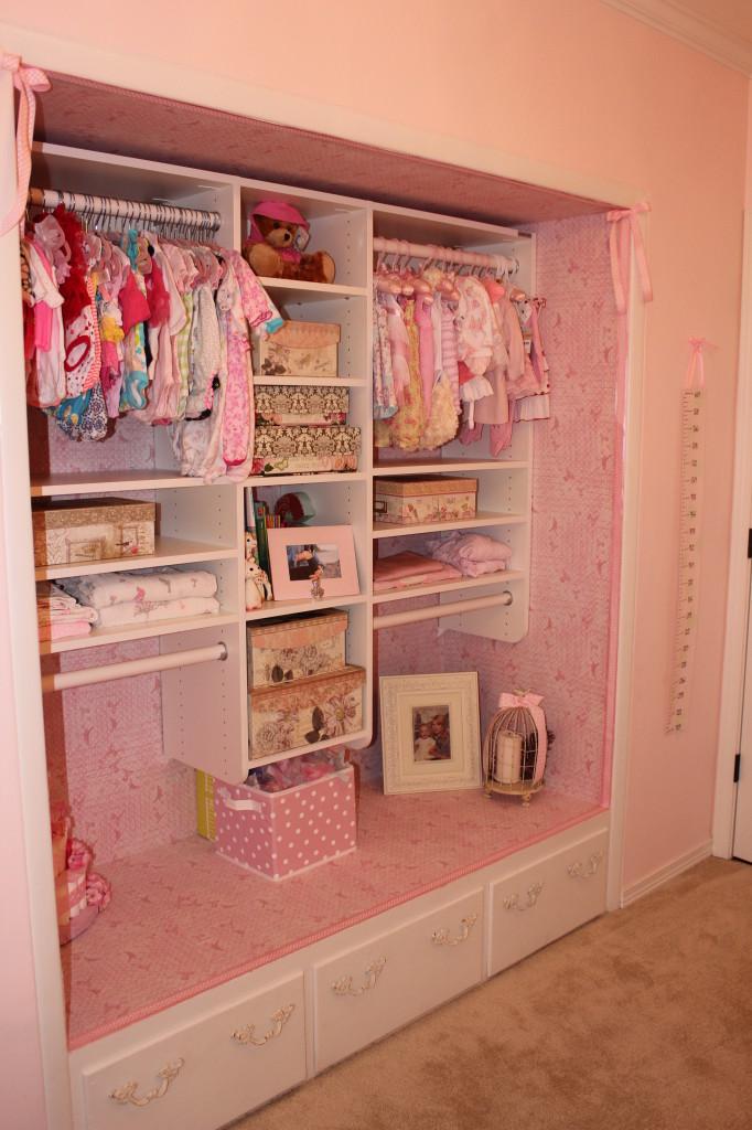 Vintage Glam Girl Nursery Closet Detail