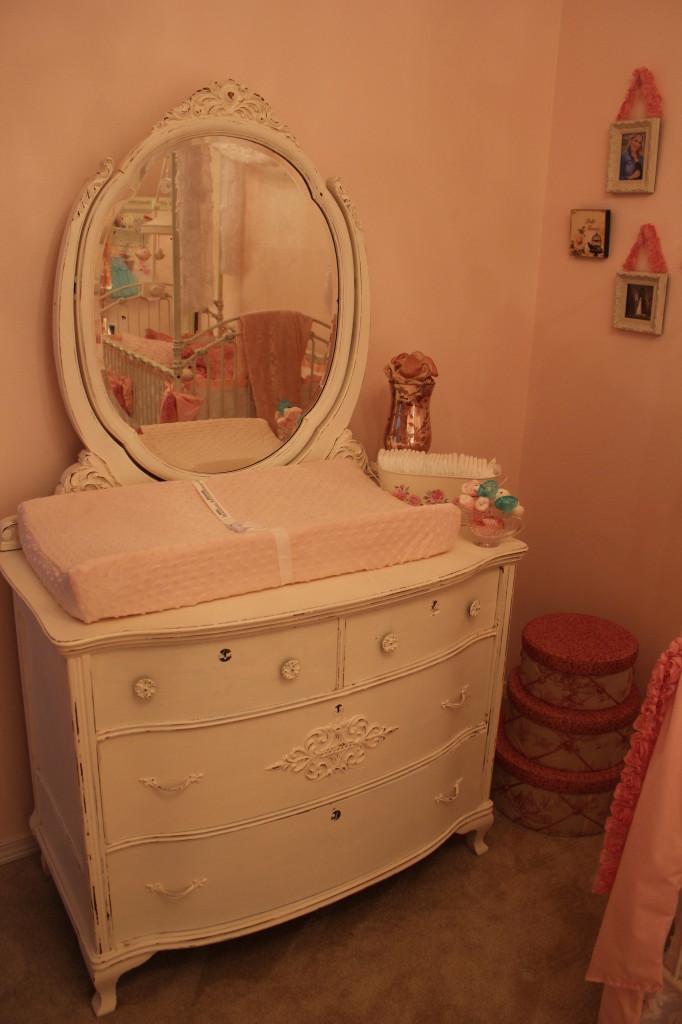 Vintage Glam Girl Nursery Changing Pad