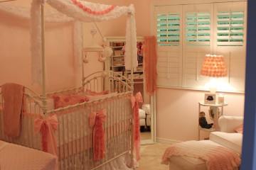 Vintage Glam Girl Nursery Room View