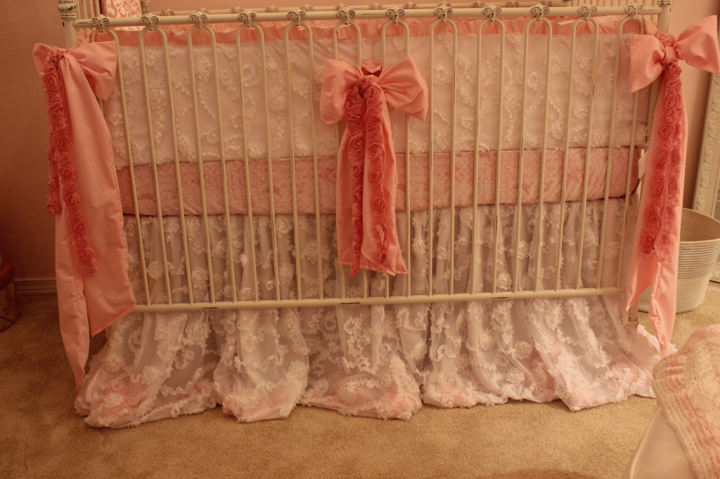 Vintage Glam Girl Nursery PInk Bow