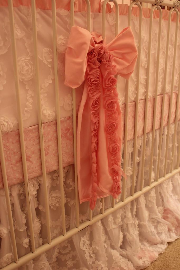 Vintage Glam Girl Nursery Pink Bow Angle