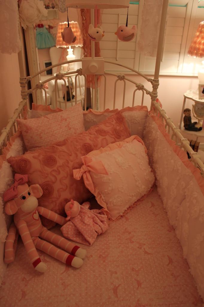 Vintage Glam Girl Nursery Crib Pillows