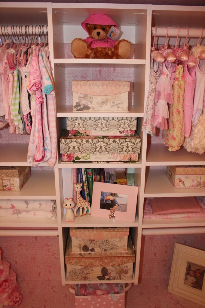 Vintage Glam Girl Nursery Closet Angle