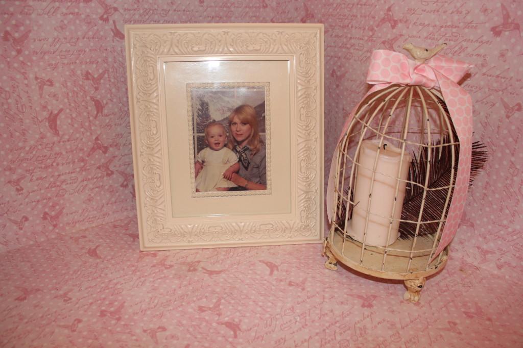 Vintage Glam Girl Nursery Framed Photo